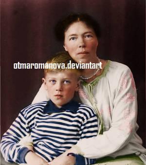 Olga and her son Guri