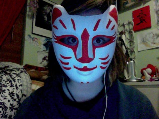 Kakurenbo Mask by wolfclawalchemist