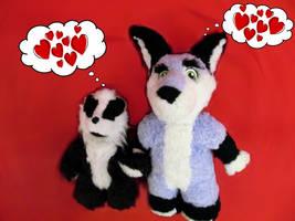 Zuzu and JazzBadger in love
