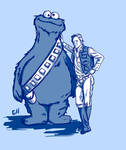 Cookie Monster and Han Solo