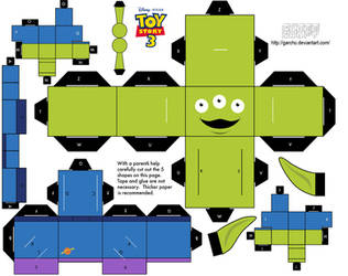Alien Toy Story - Cubeecraft by Garcho