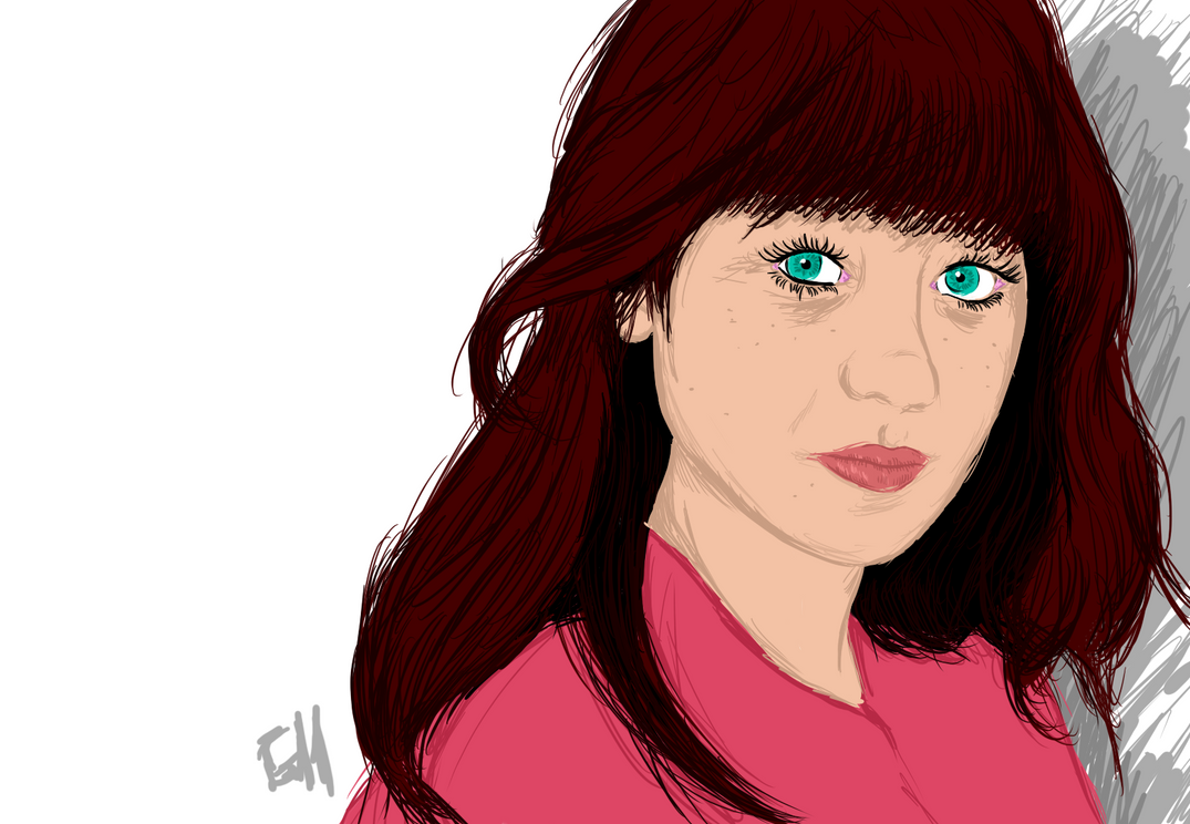 Zooey Deschanel by Garcho