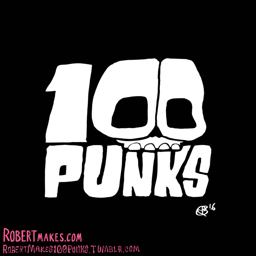 100 Punks - Illustration Series Logo