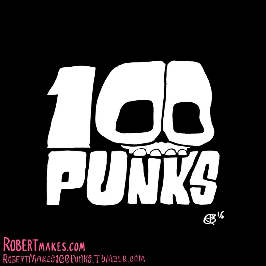 100 Punks - Illustration Series Logo by RobertMakes