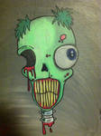 zombie bust painting