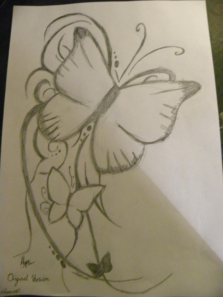 Butterfly Tattoo Pencil By Cleararrow On Deviantart