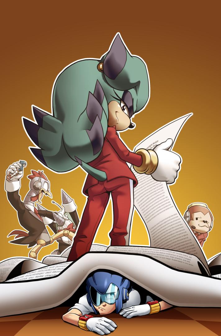 Sonic Man 14 Faux Cover by JoeAdok