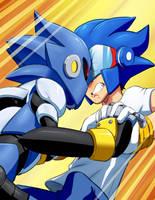 Sonicman vs Sonic Mandroid by JoeAdok