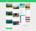Flat blog template by Dr-Vark