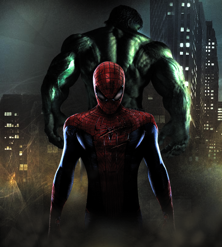 hulk and spider man by jsousa10