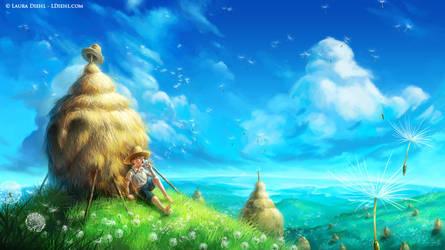 Dandelion Sky by ldiehl
