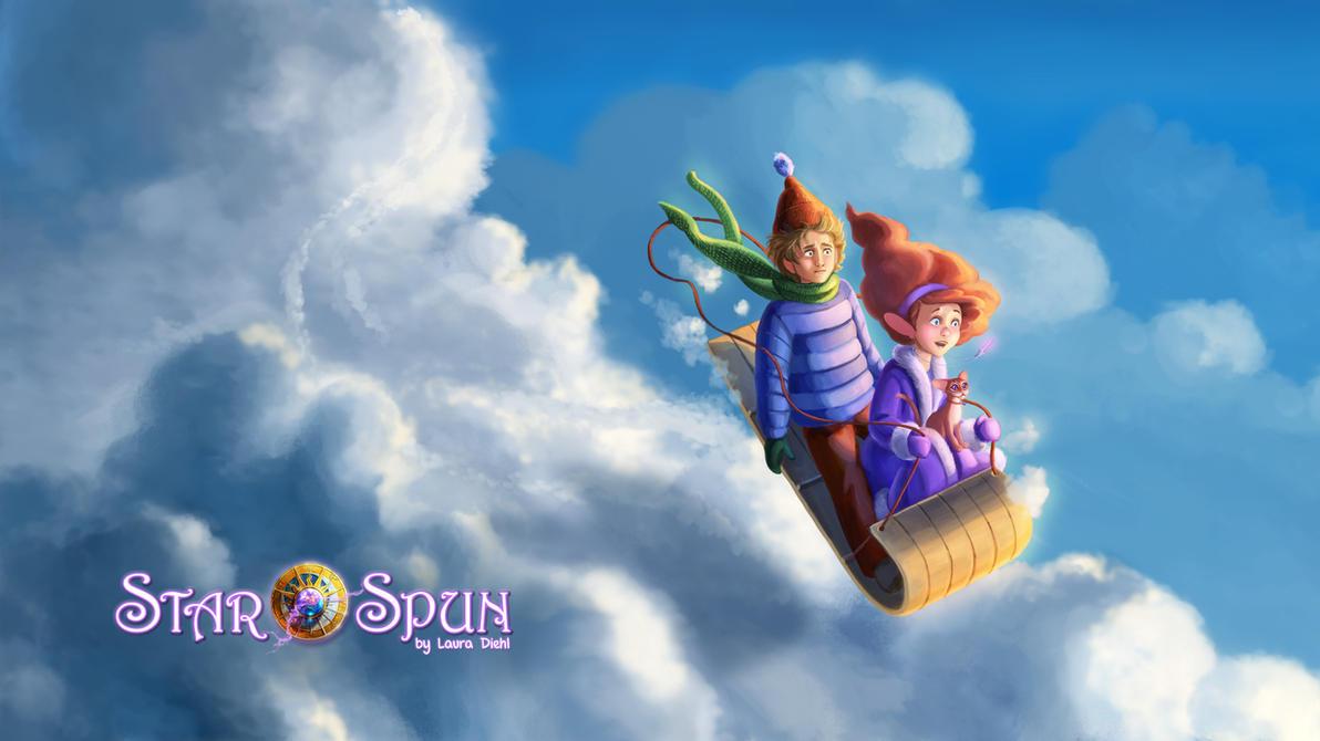Cloud Sledding on StarSpun by ldiehl