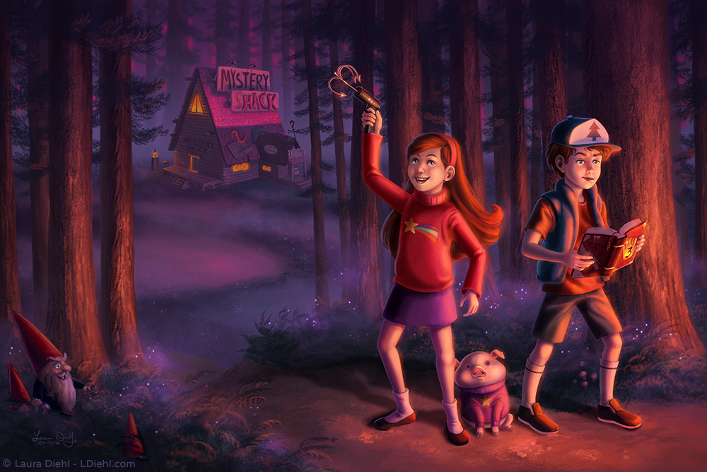 Gravity Falls by ldiehl