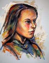 Life Study Portrait by Stefan Boettcher by newboldworld