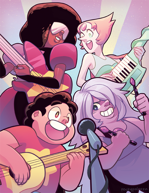 Are you guys watching Steven Universe because it's super pretty and good!! I adore this show! I'm turning this into a print to sell at FLUKE! It's a small comic con in Athens, Georgia if anyone hap...