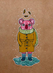 Pink koala by RedCloudlet