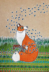 Spring fox by RedCloudlet