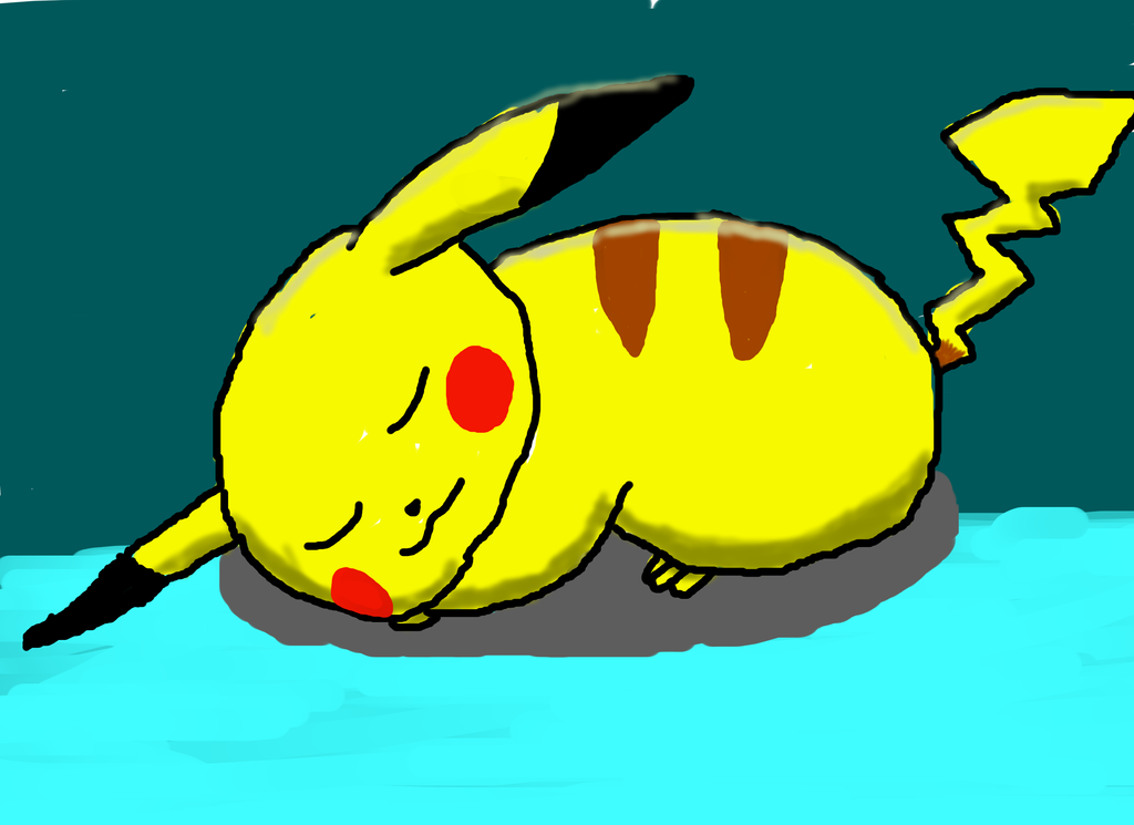 Pikachu Sleeping Pictures To Pin On Pinterest Pinsdaddy