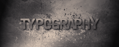 Typography (tag) by Exclamative
