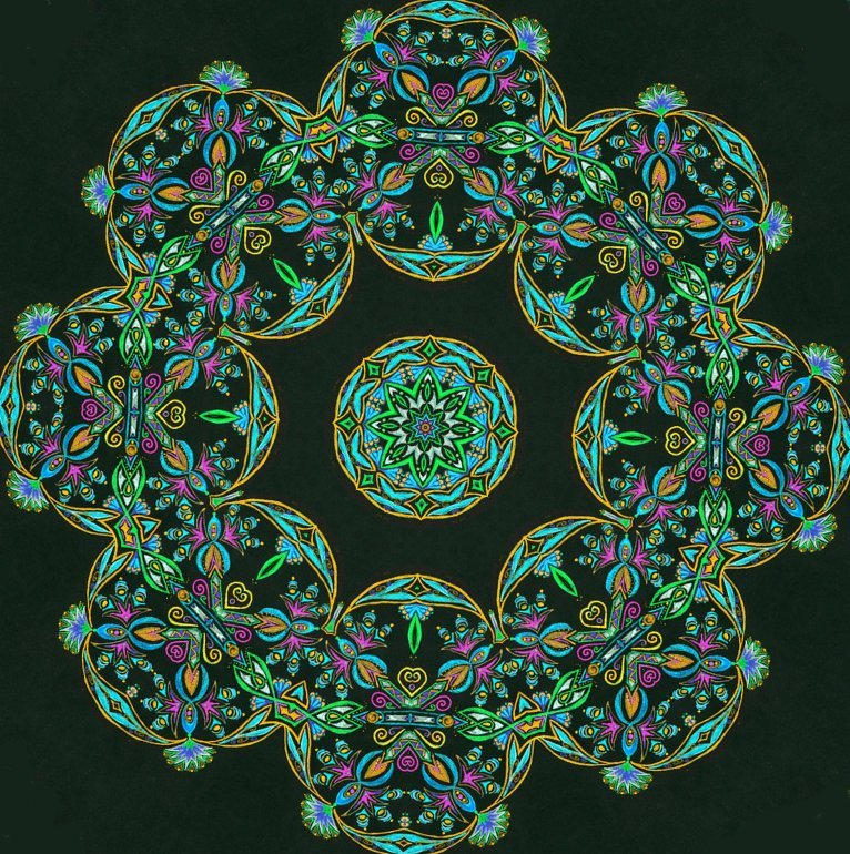 A June Mandala by mandalagal