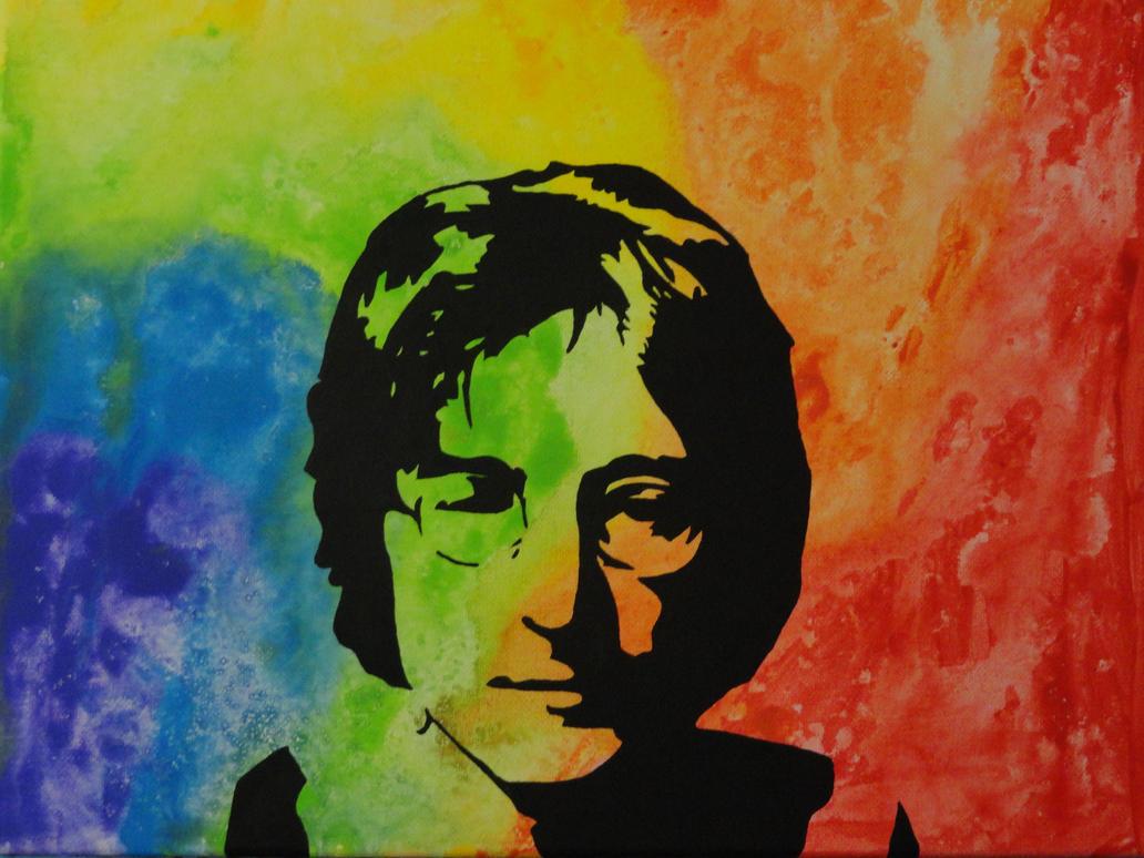 John Lennon psychedelic by LilyLondon9