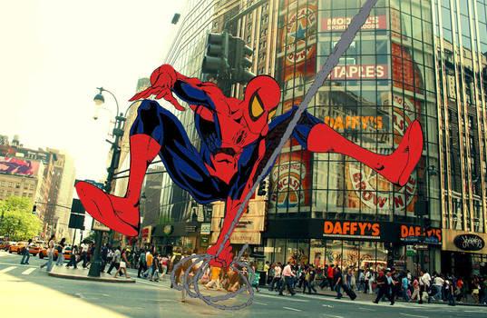 Spider-Man Line Art Colored