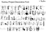 Touhou Project Font Full