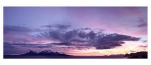 Landegode sunrise panorama