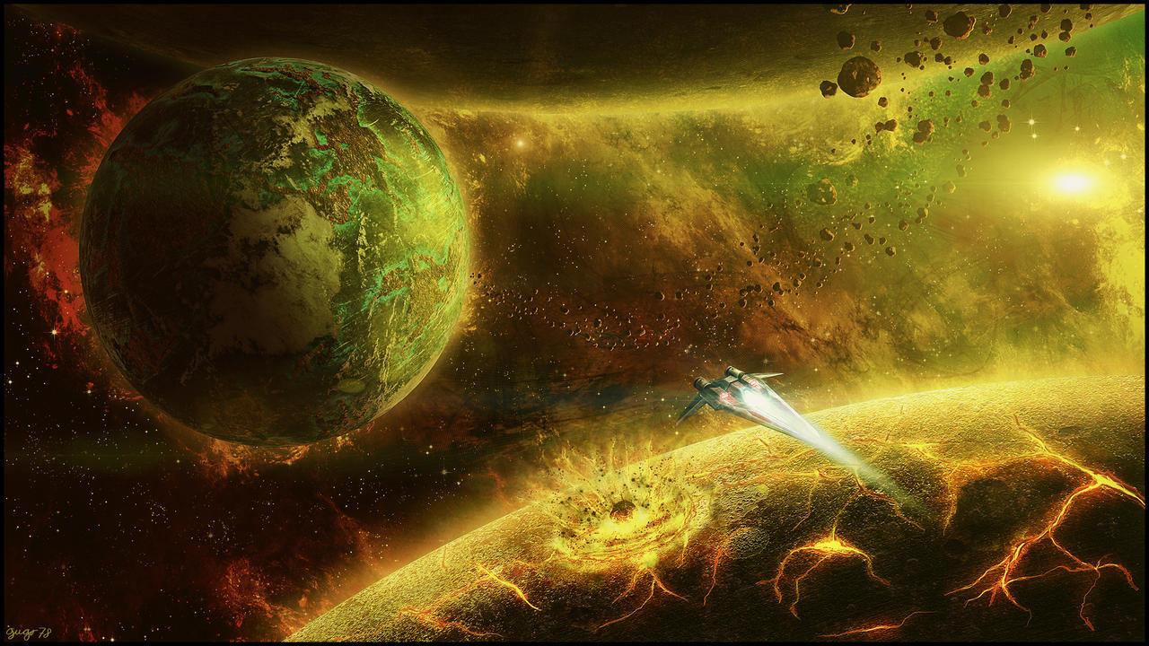 Звёздное небо и космос в картинках - Страница 31 Curiosity_by_gugo78-d5ls6tr