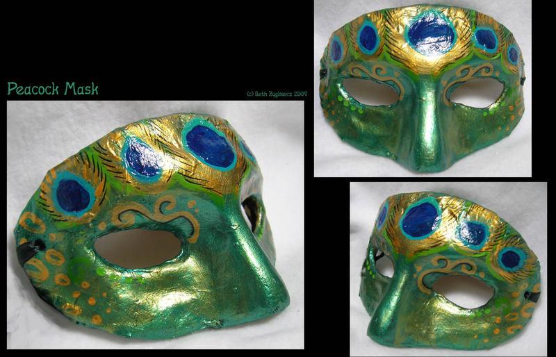 Peacock Mask by SpaceTurtleStudios