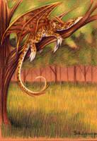 Sunbathing Dragon by SpaceTurtleStudios
