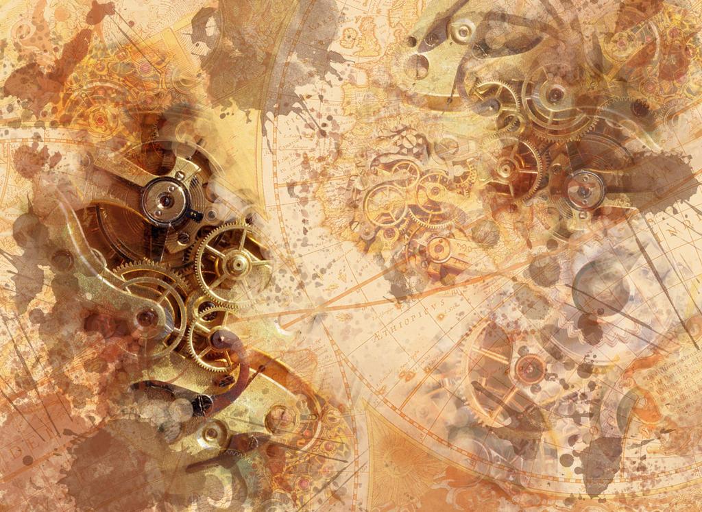 steampunk map wallpaper - photo #10