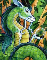 Green Dragon of the East by SpaceTurtleStudios