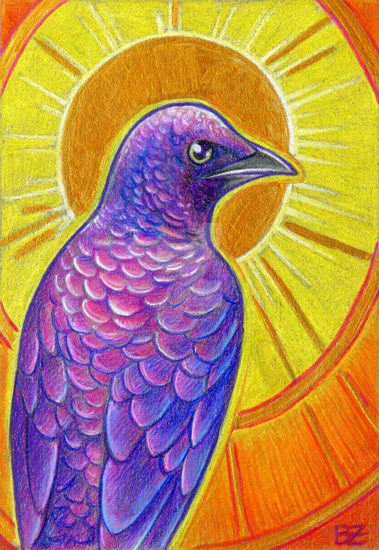 Birdazzling Starling by SpaceTurtleStudios