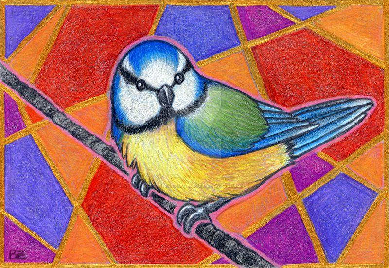 Birdazzling Blue by SpaceTurtleStudios