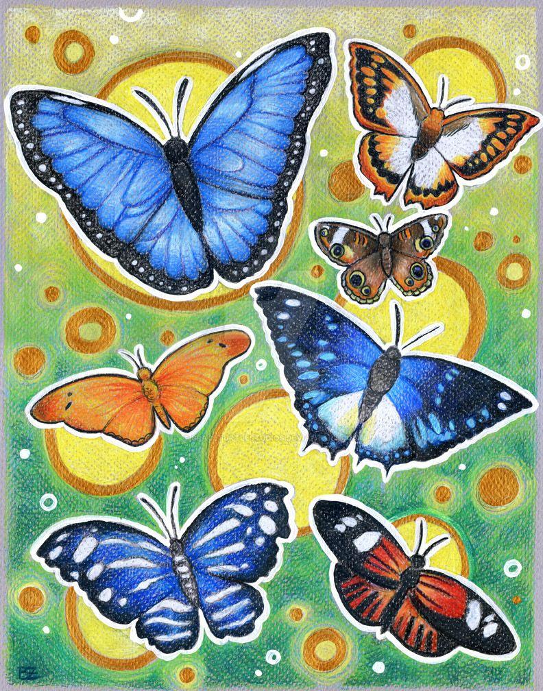 Bedazzling Butterflies by SpaceTurtleStudios