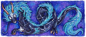 30 Days of Dragons - Day 17 - Constellation Dragon by SpaceTurtleStudios