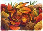 30 Days of Dragons - Day 18 - Autumn Leaf Dragon