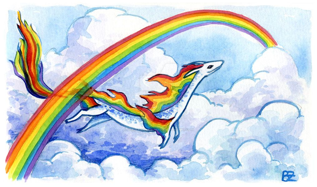 30 Days of Dragons - Day 23 - Rainbow Dragon by SpaceTurtleStudios