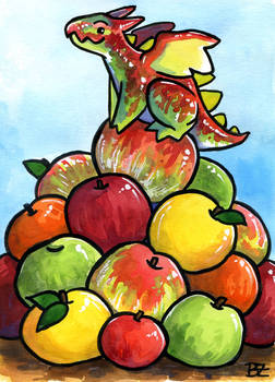 30 Days of Dragons - Day 28 - King of Apples