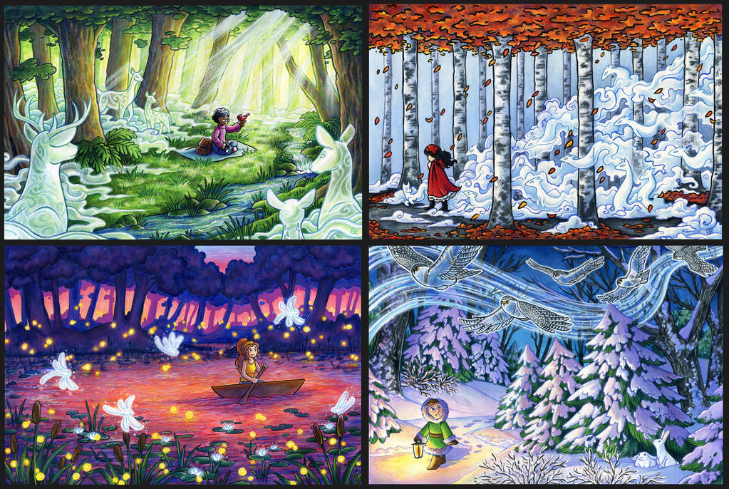 Spirit Forest - Complete Set by SpaceTurtleStudios