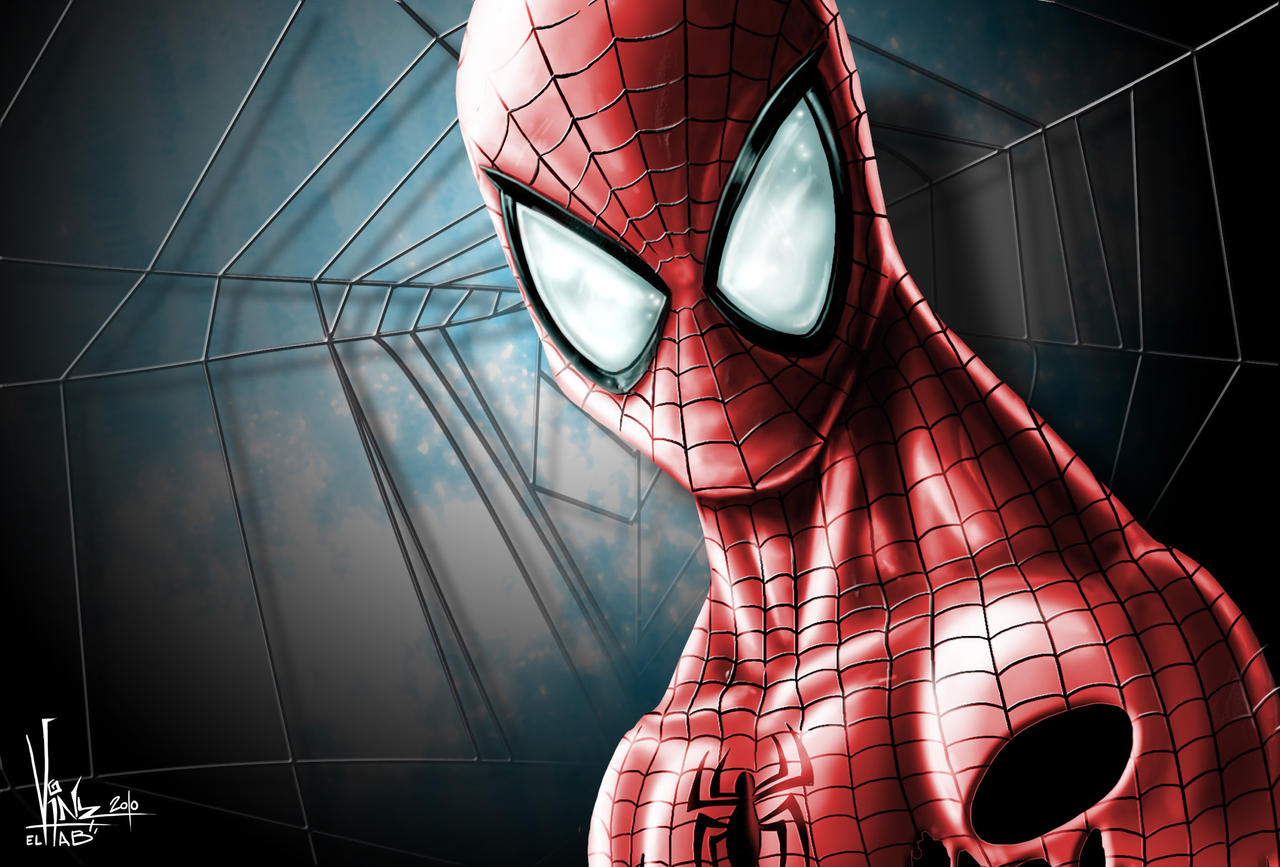 SPIDERMAN Digital paintingC by Vinz-el-Tabanas