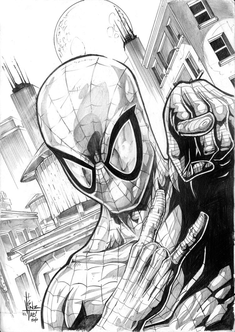 SPIDEY sketch portrait by Vinz-el-Tabanas