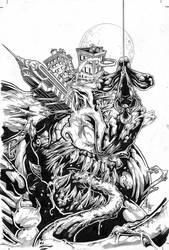 Venom on New York BW by Vinz-el-Tabanas