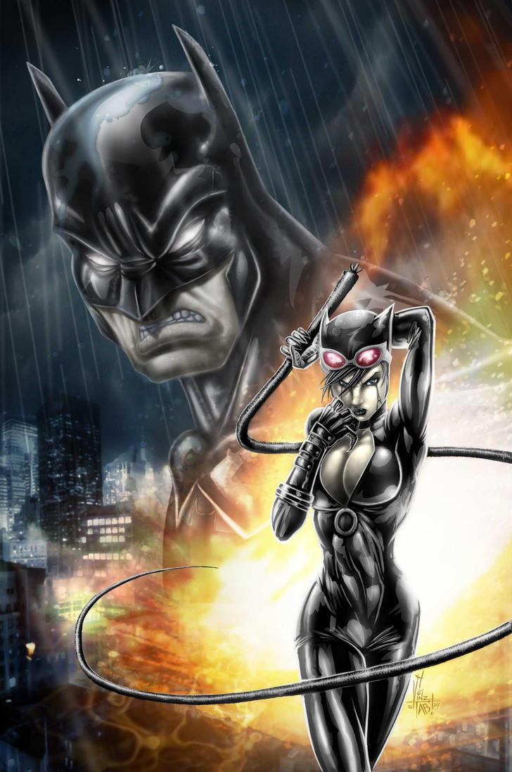 BATMAN CATWOMAN by Vinz-el-Tabanas