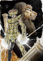Saint Seiya - lion by Vinz-el-Tabanas