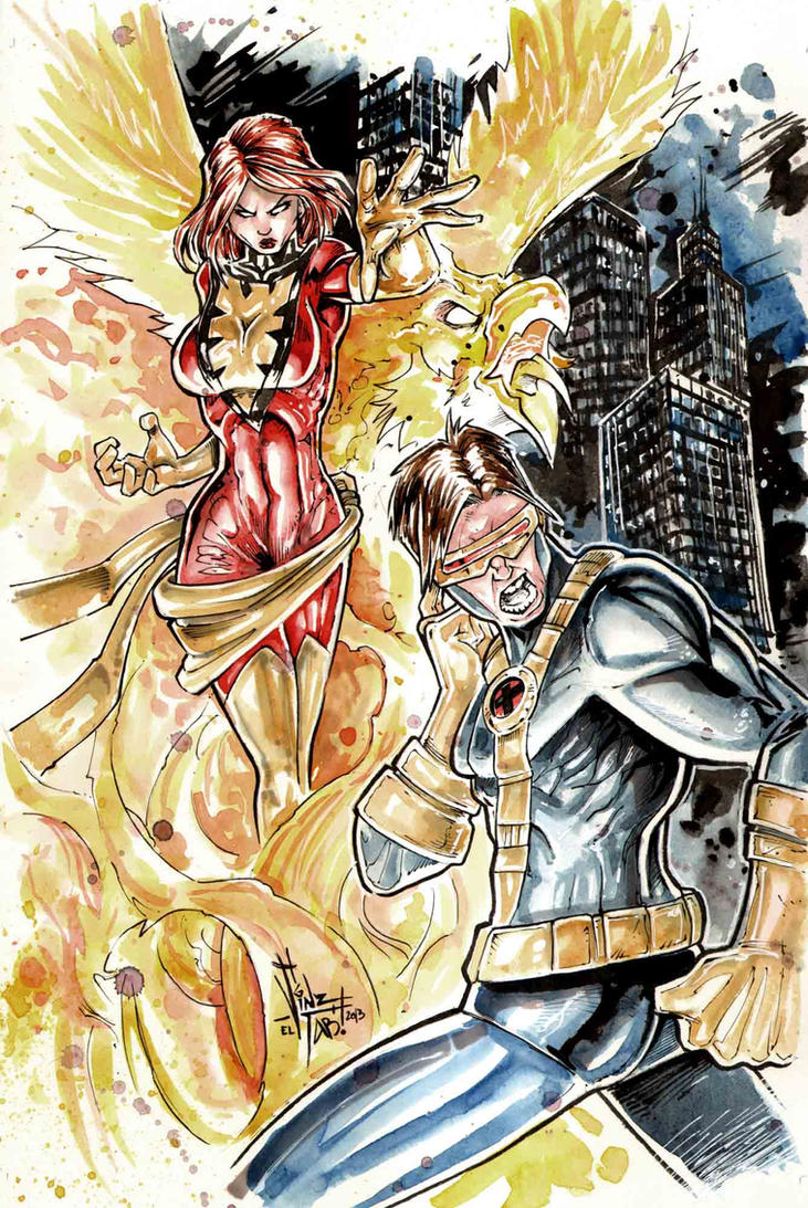 Dark Phoenix vs Cyclop by Vinz-el-Tabanas