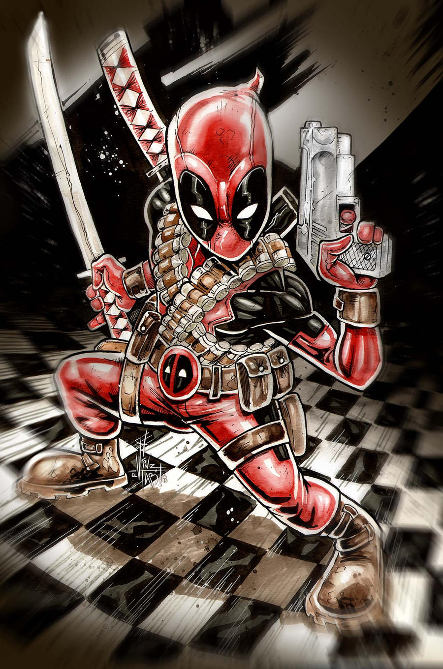 shibi DEADPOOL by Vinz-el-Tabanas
