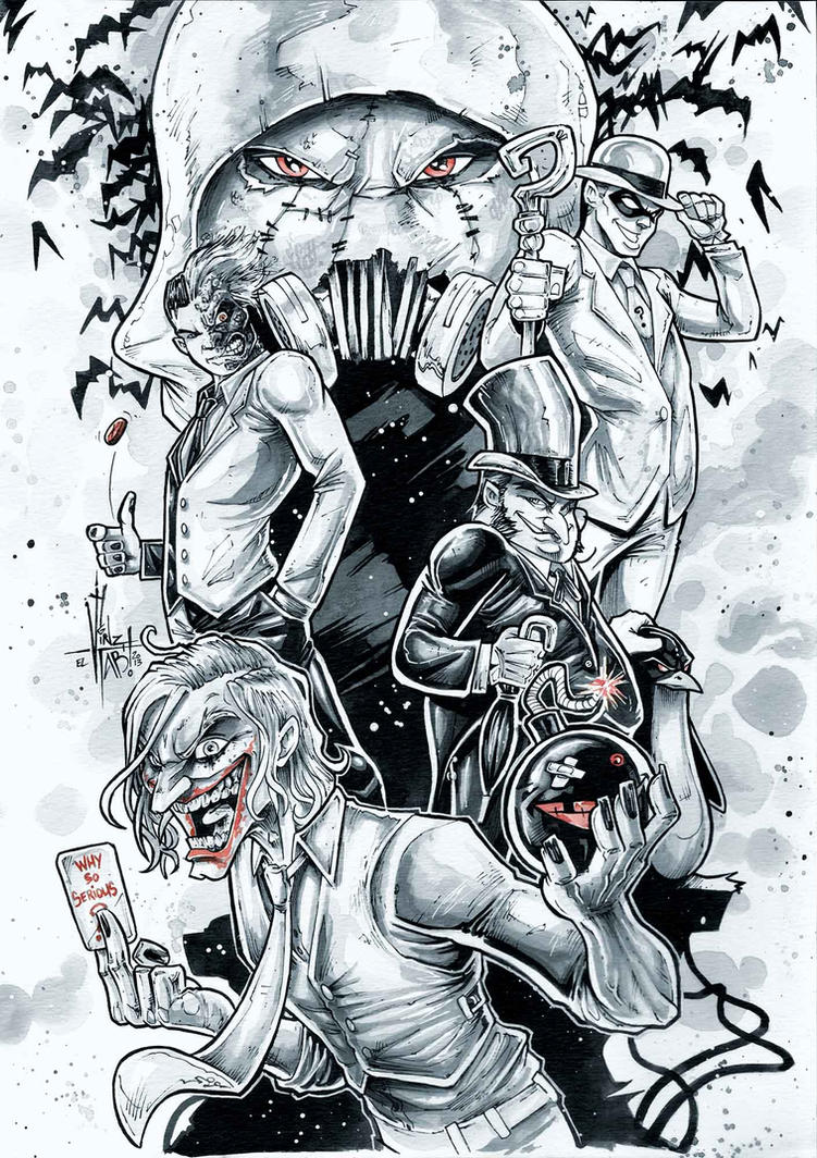 BATMAN badguys by Vinz-el-Tabanas