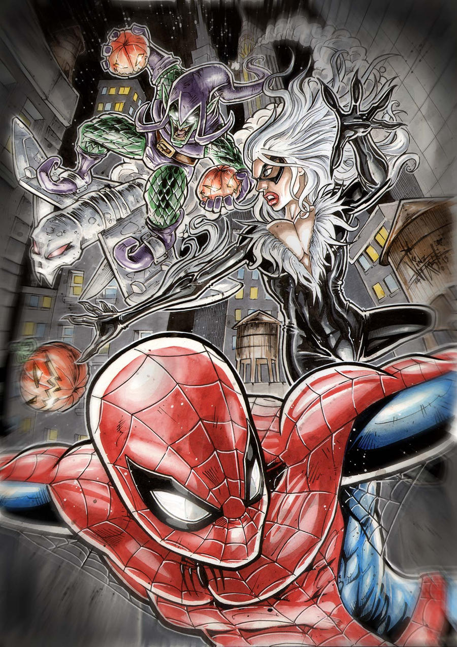 SPIDEY vs GREEN goblin by Vinz-el-Tabanas